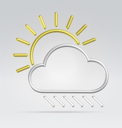 wire weather vector image vector image