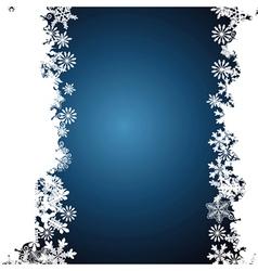 Christmas border snowflake design background vector image vector image