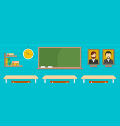 classroom banner flat style vector image vector image