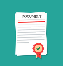 Document with a seal natorially certified power vector