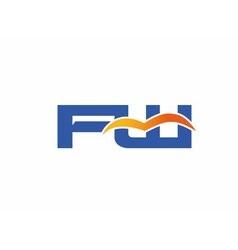 FW initial company logo vector image vector image