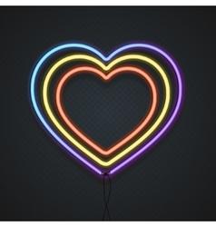 Neon Heart vector image