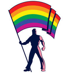 pride flag bearer vector image vector image