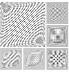 3d geometric patterns set vector image