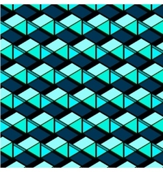 Abstract repetition geometric navy blue squares vector image