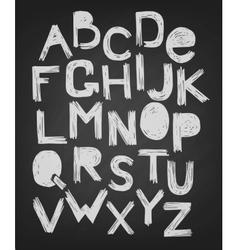 Alphabet skrabble grunge style vector