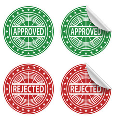 Approved rejected stickers vector