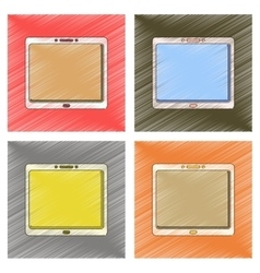 Assembly flat shading style tablet vector
