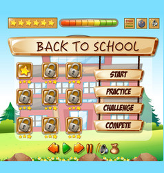 back to school game template vector image