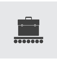 Baggage conveyor icon vector image