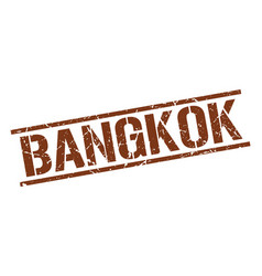 Bangkok brown square stamp vector