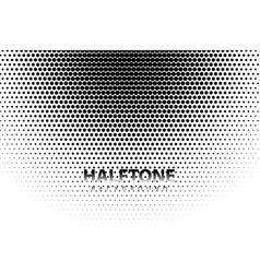 black wavy halftone white background vector image