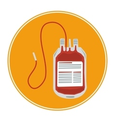 Blood transfusion icon vector