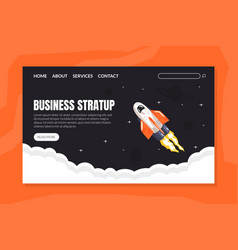 business start up landing page template new vector image