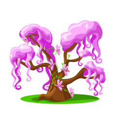 cartoon tree from a magical land vector image