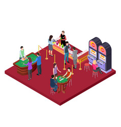 casino interior with bar area isometric vector image