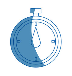Chronometer stop watch time clock vector