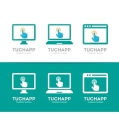 Click and phone logo combination Cursor vector