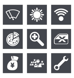 Color icons for Web Design set 46 vector