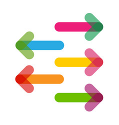 colorful arrows in trendy flat style with vector image