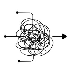 confused process chaos line symbol finding a way vector image