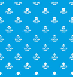 cricket ball pattern seamless blue vector image