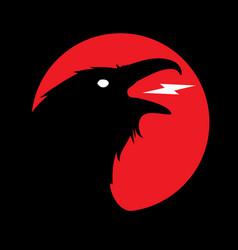 dark evil heraldic raven vector image