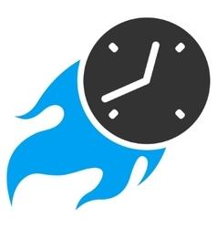 Deadline Fire Flat Icon vector