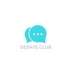 Debate club logo vector