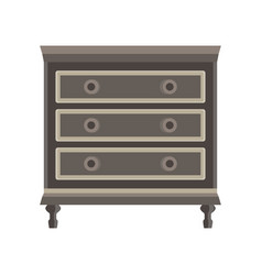drawer dresser room wardrobe cartoon isolated vector image