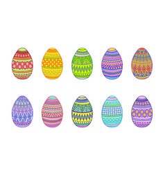 easter eggs on a white background vector image