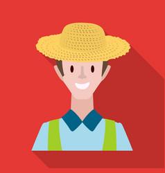 Farmer and man logo vector