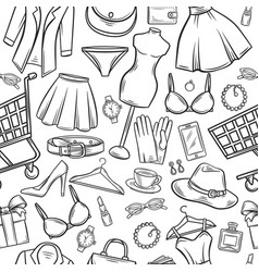 fashion online shop seamless pattern vector image