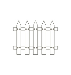 Fence path vector image