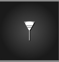 Garden rake icon flat vector
