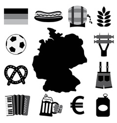 Germany Icons Set vector image