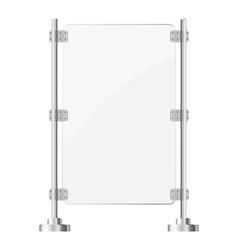 Glass screen with metal racks eps10 vector