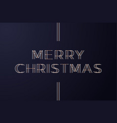 gold merry christmas typography holidays greeting vector image