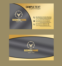 golden color business card image vector image