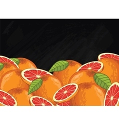 Grapefruit fruit composition on chalkboard vector
