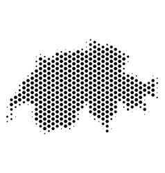 Hex-tile swissland map vector