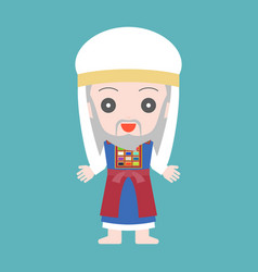 High priest of jewish in cute character vector