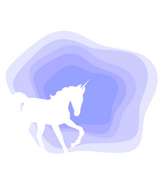 Horse unicorn on abstract background vector