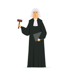 Judge - modern cartoon people characters vector