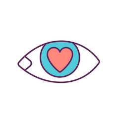 Love at first sight rgb color icon vector