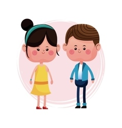 Lovely young couple smiling vector