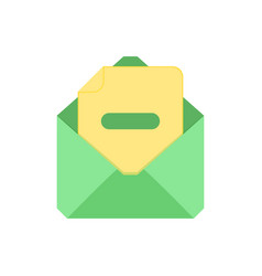 mail symbol envelope icon substract envelope vector image