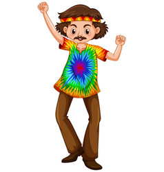 Man in hippie clothes vector