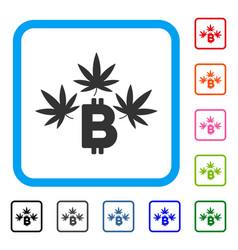 marijuana bitcoin business framed icon vector image
