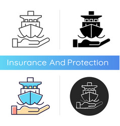 Marine insurance icon vector